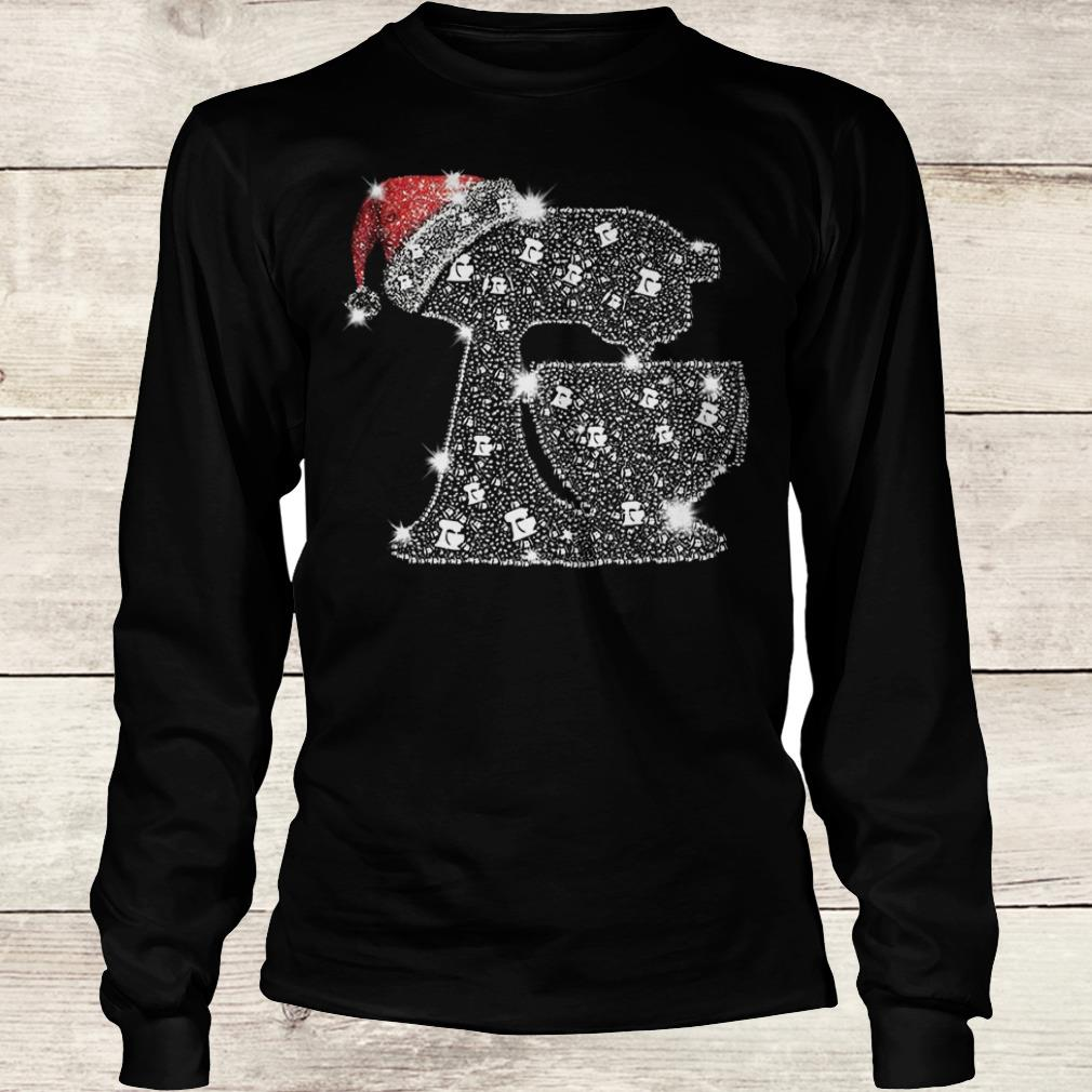 Awesome Snoopy Baking Glitter and rhinestones with santa hat shirt Longsleeve Tee Unisex