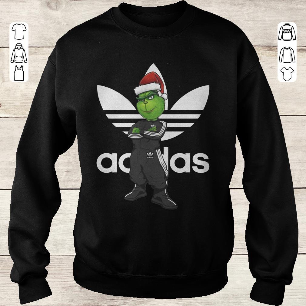 Funny Grinch Santa Adidas Christmas Shirt Sweater Sweatshirt Unisex.jpg