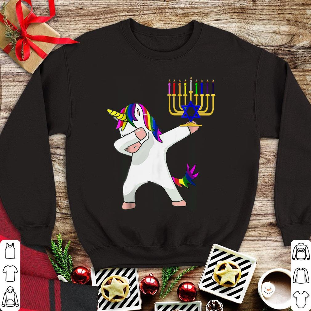 Funny Unicorn Dabbing Hanukkah shirt