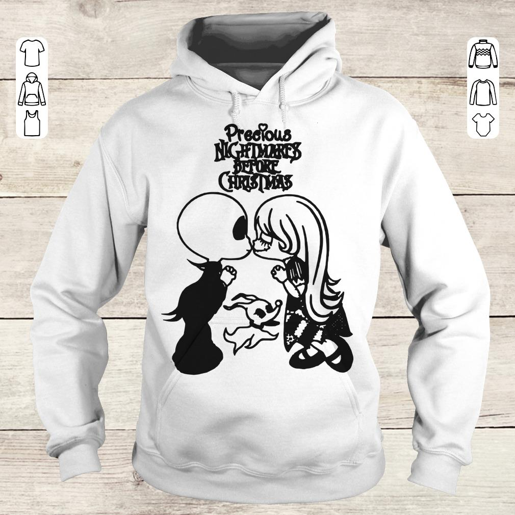 Hot Precious nightmares before Christmas Jack Skellington and Sally shirt Hoodie