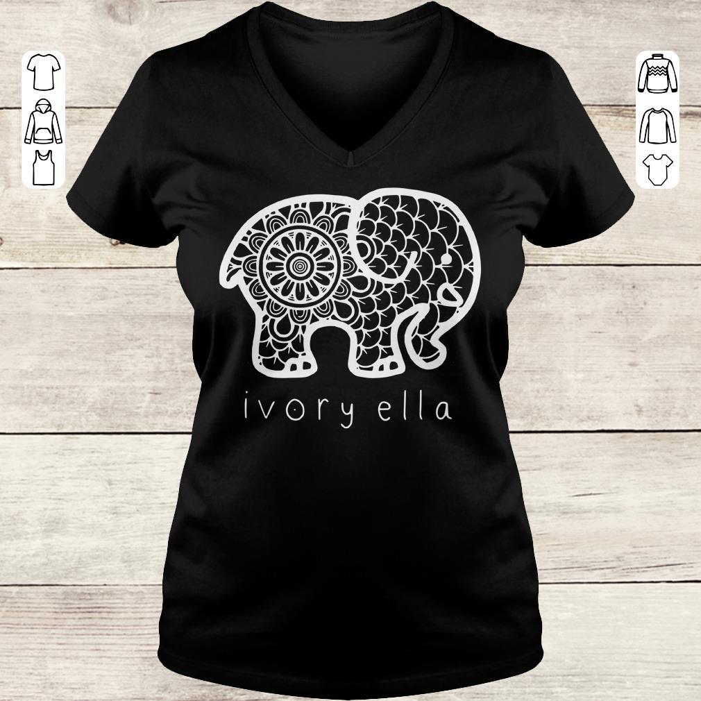 Nice Ivory ella elephant shirt Ladies V-Neck