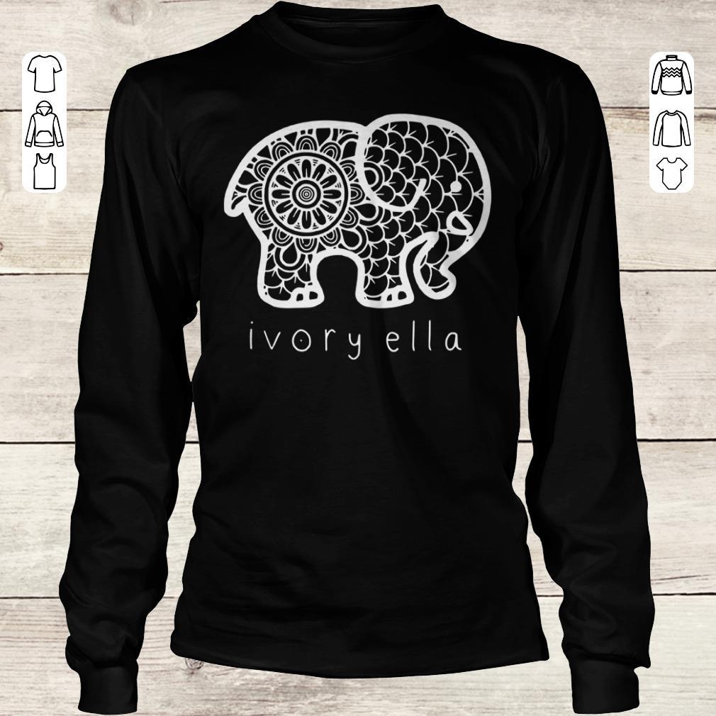 Nice Ivory ella elephant shirt Longsleeve Tee Unisex