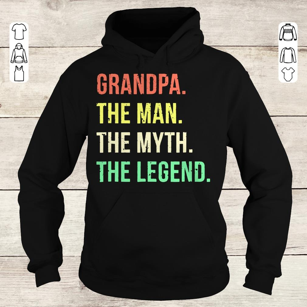 Official Grandpa The Man The Myth The Legend shirt Hoodie