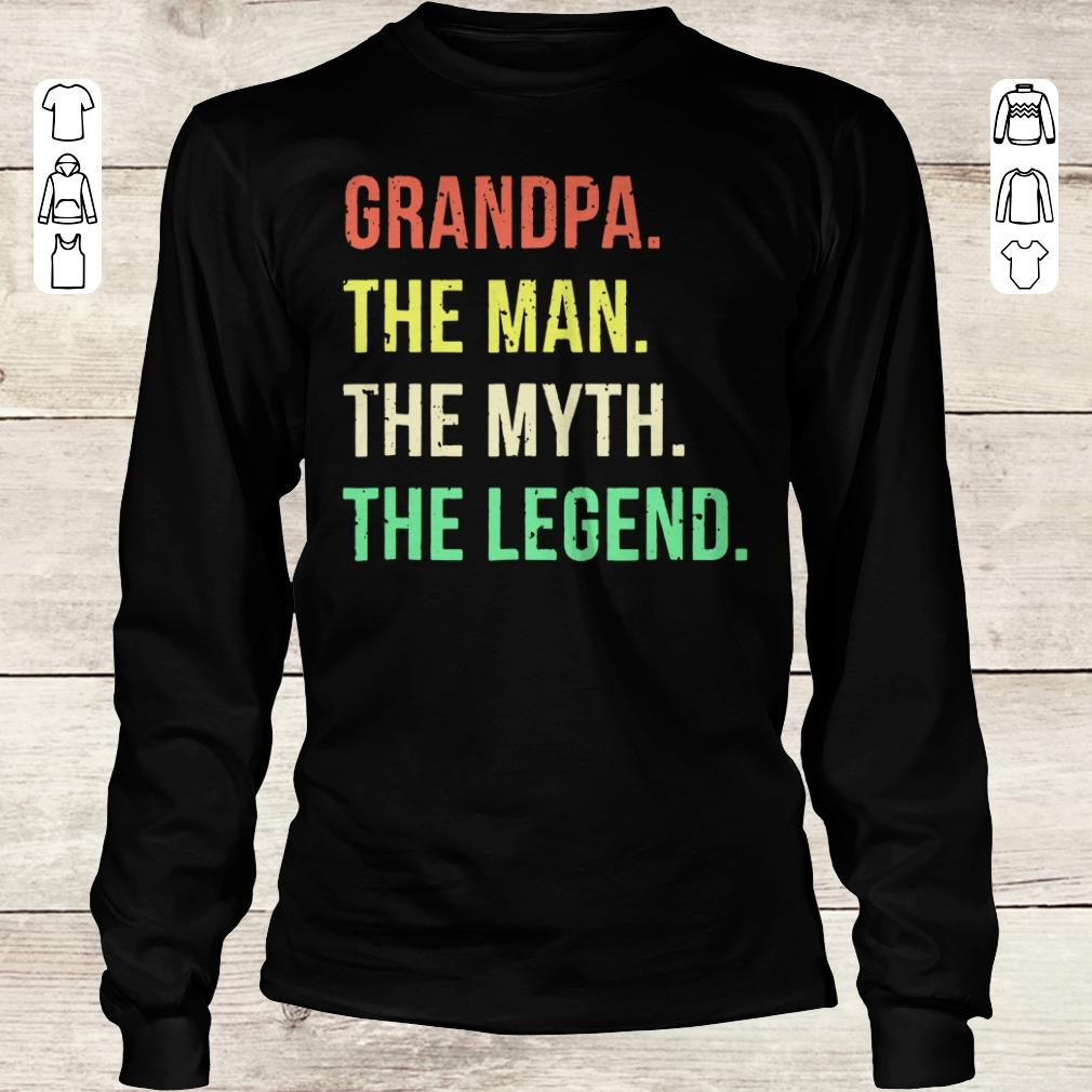Official Grandpa The Man The Myth The Legend shirt Longsleeve Tee Unisex