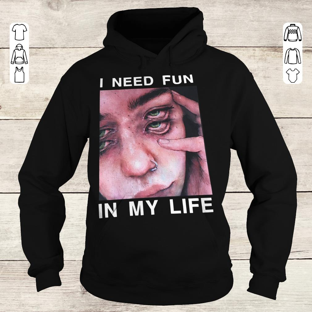 Official I need fun in my life The Drums Surreal Glitchy shirt Hoodie