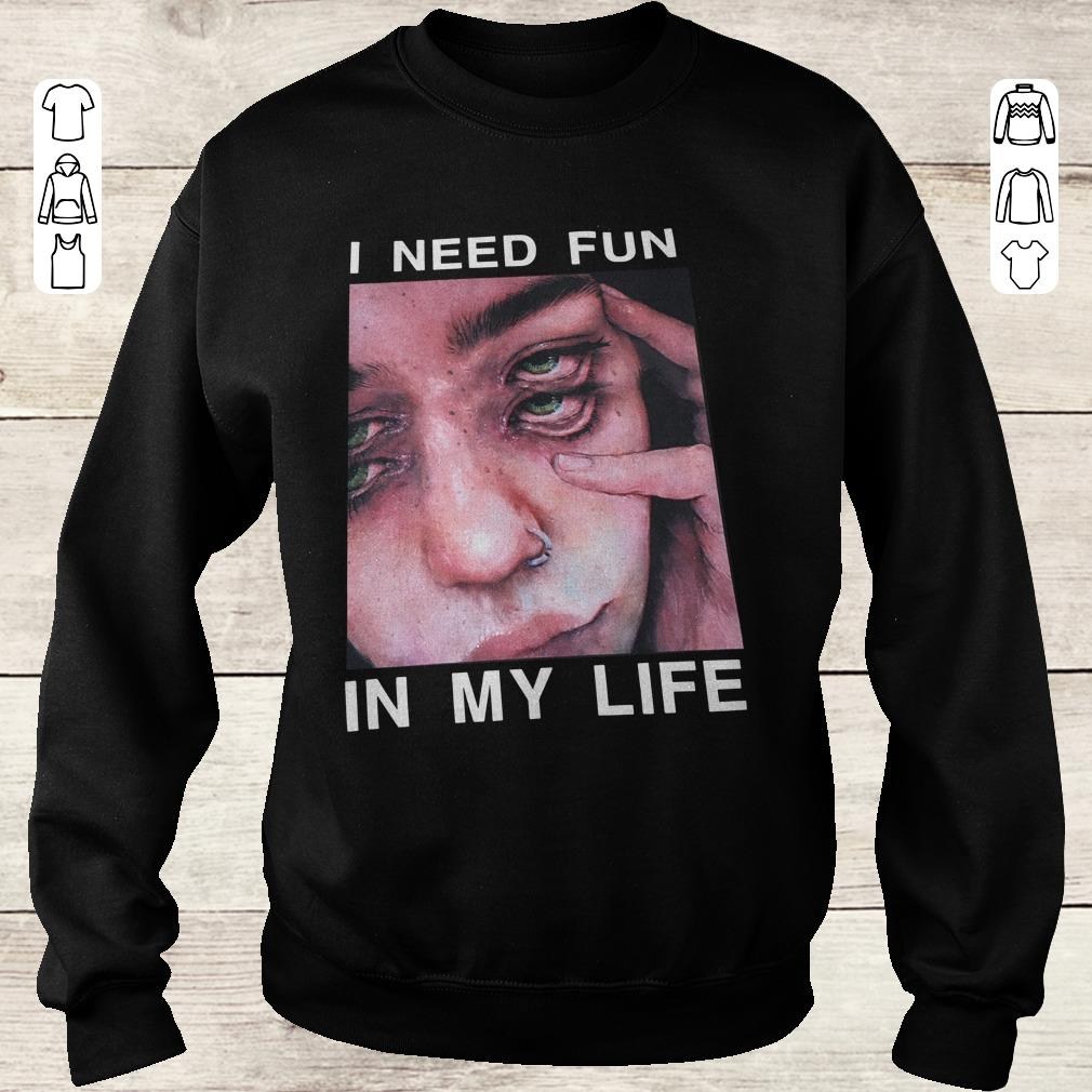 Official I Need Fun In My Life The Drums Surreal Glitchy Shirt Sweatshirt Unisex.jpg