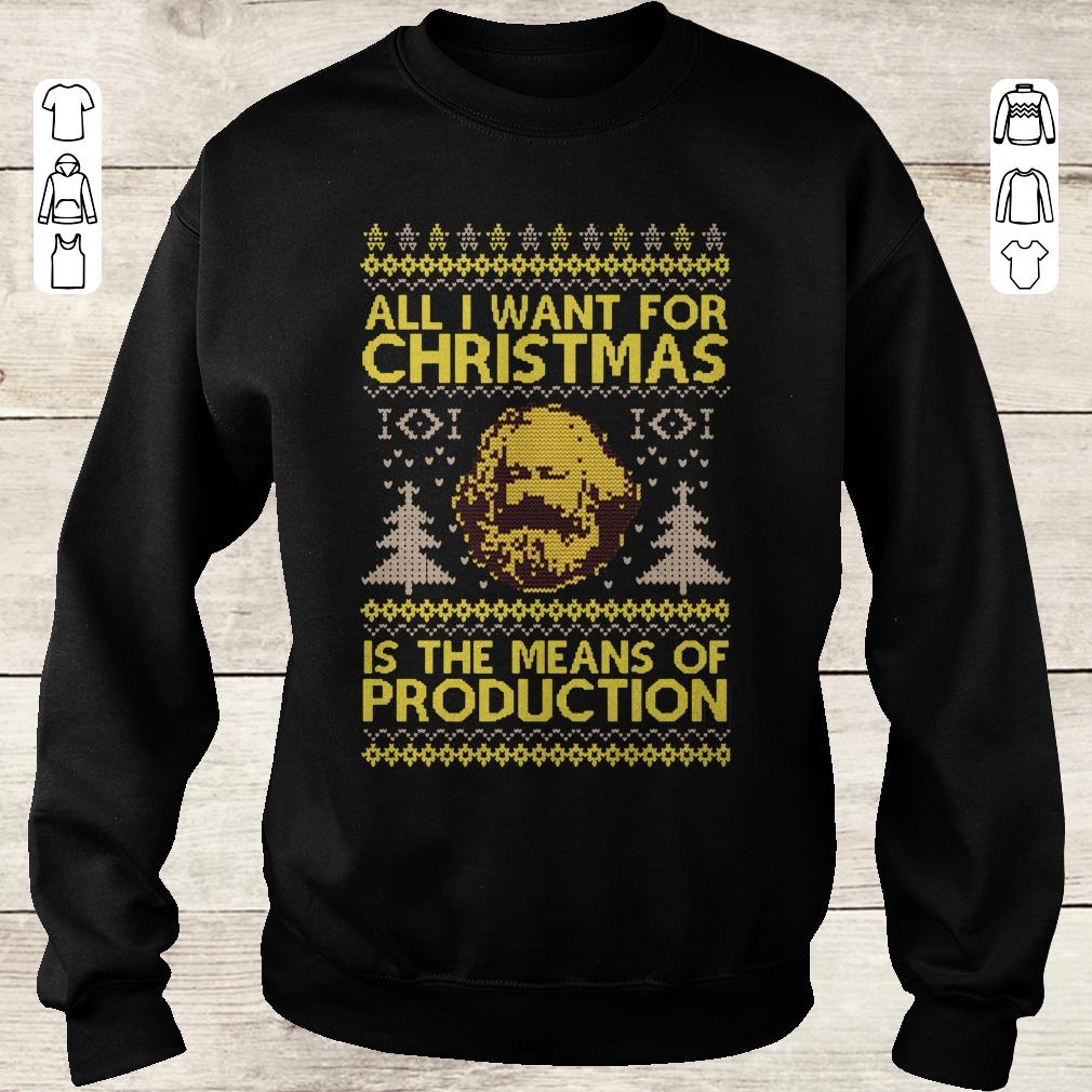 Official Karl Marx All I Want For Christmas Is The Means Of Production Sweater Shirt Sweatshirt Sweatshirt Unisex 1.jpg