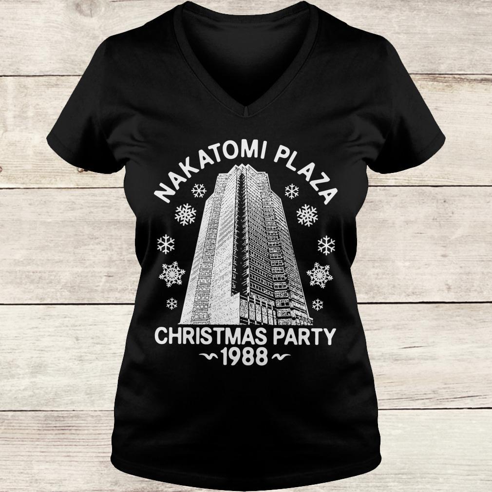 Original Nakatomi plaza christmas party shirt Ladies V-Neck