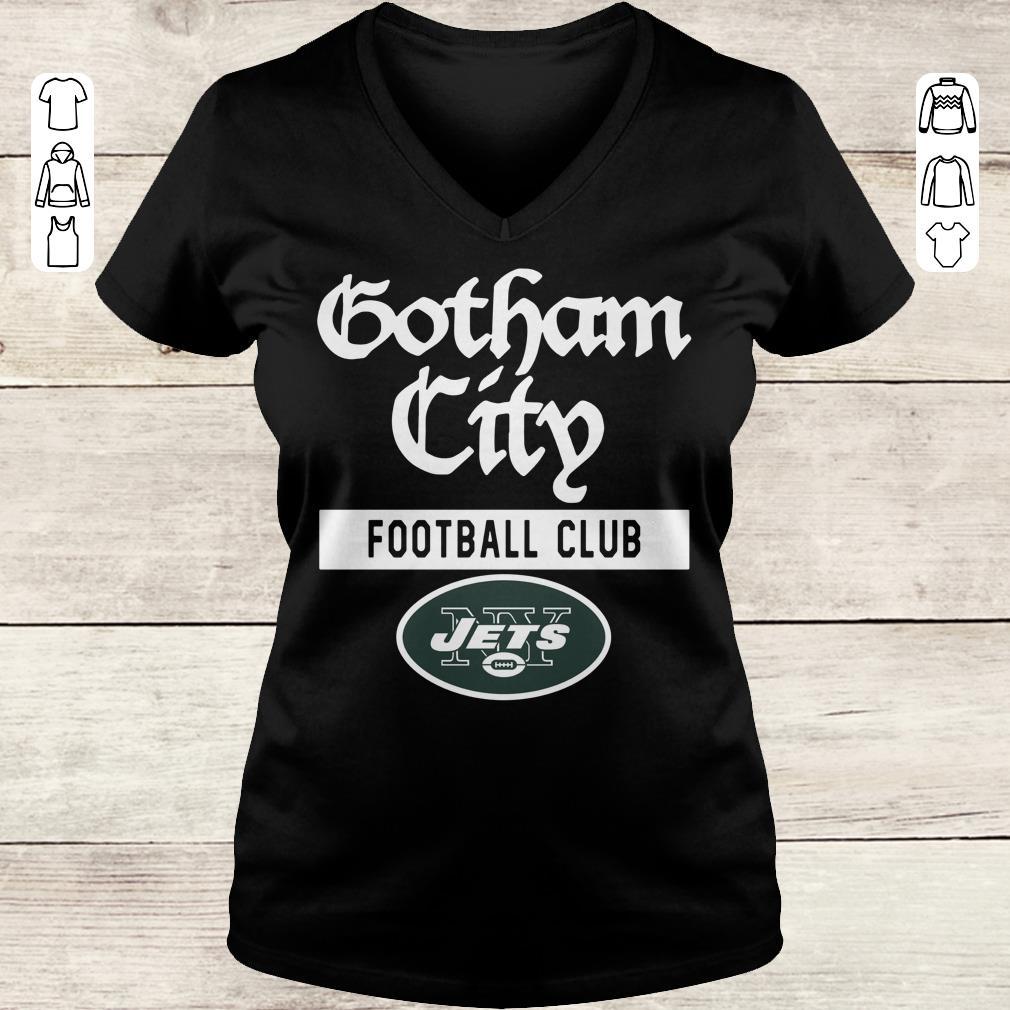Pretty New York Jets Gotham City Football club shirt Ladies V-Neck
