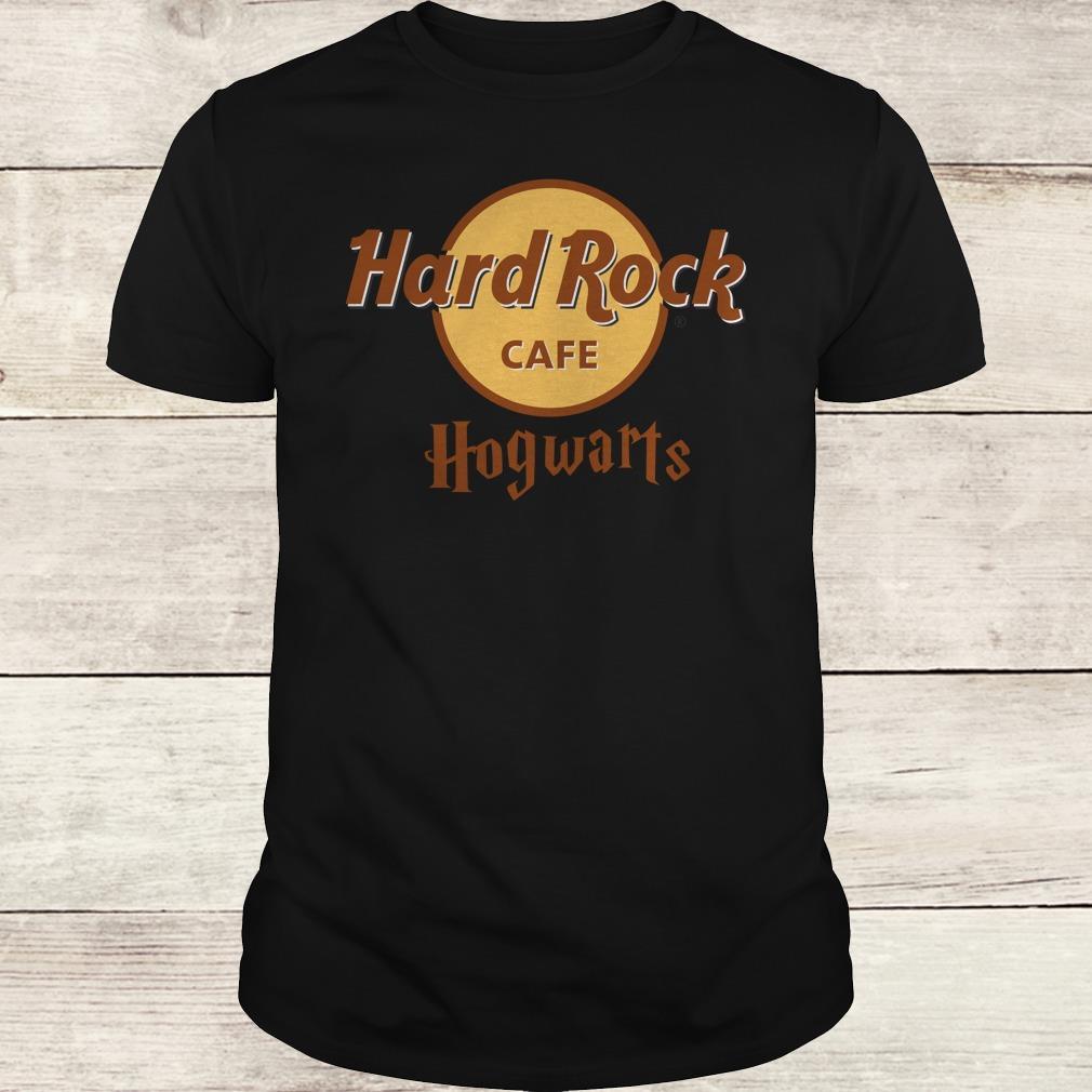 The best Harry Potter hard Rock cafe Hogwarts shirt Classic Guys / Unisex Tee