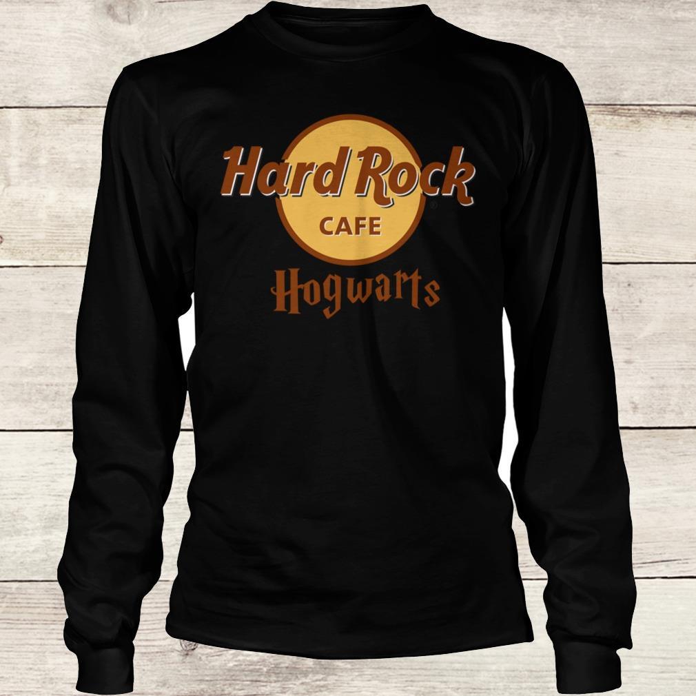 The best Harry Potter hard Rock cafe Hogwarts shirt Longsleeve Tee Unisex