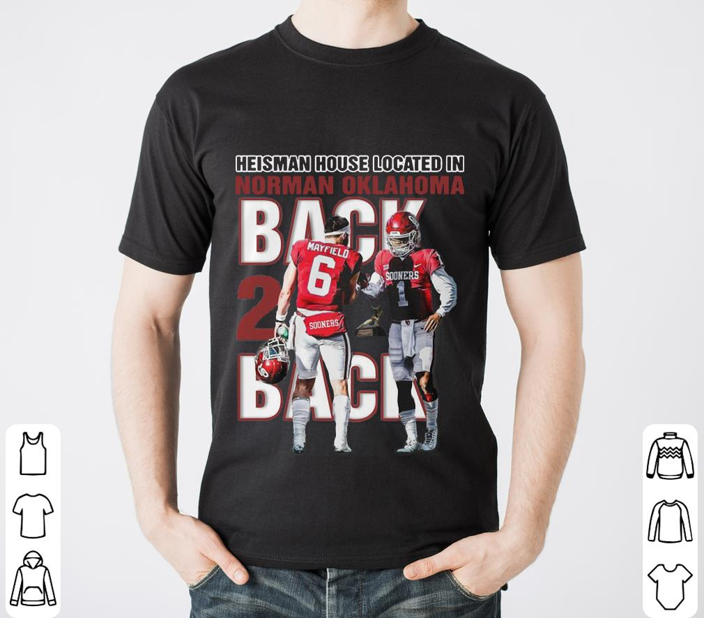 e00029635b5 Awesome Baker Mayfield Heisman house located in Norman Oklahoma Sooner Bred  shirt