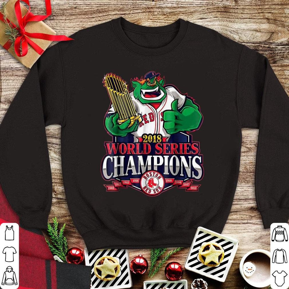 sports shoes c8b4c 2bc24 Funny Boston Red Sox 2018 World Series Champions Damage Done shirt