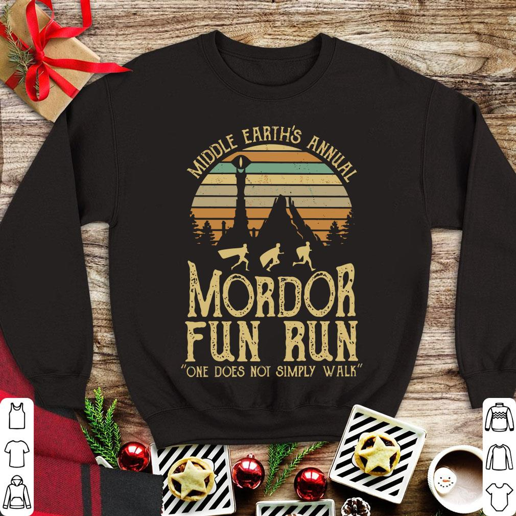 23152e969 Pretty Sunset middle earth's annual mordor fun run one does not simply walk  shirt