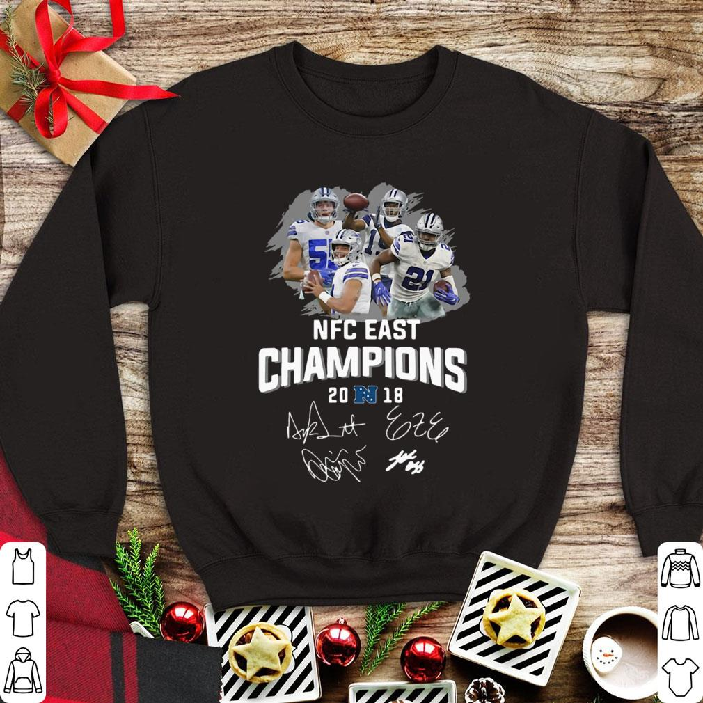 Awesome Dallas Cowboys players NFC East champions 2018 signature shirt 44640ed0a