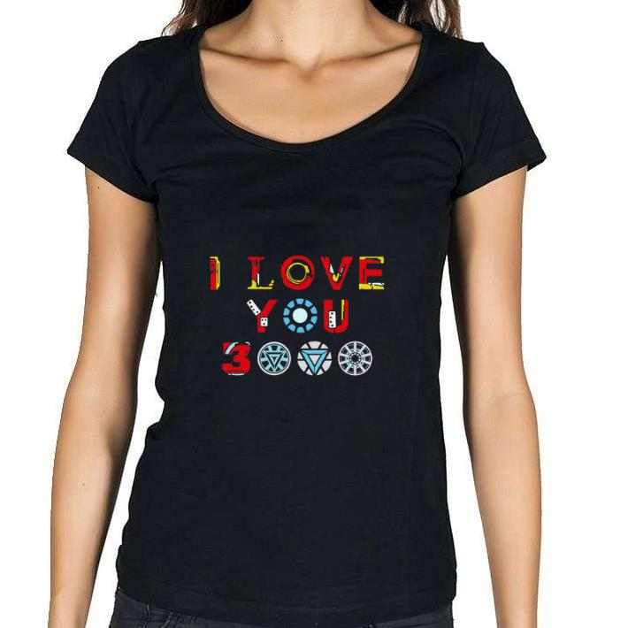 Hot Tony Stark Iron man I love you 3000 daughter shirt