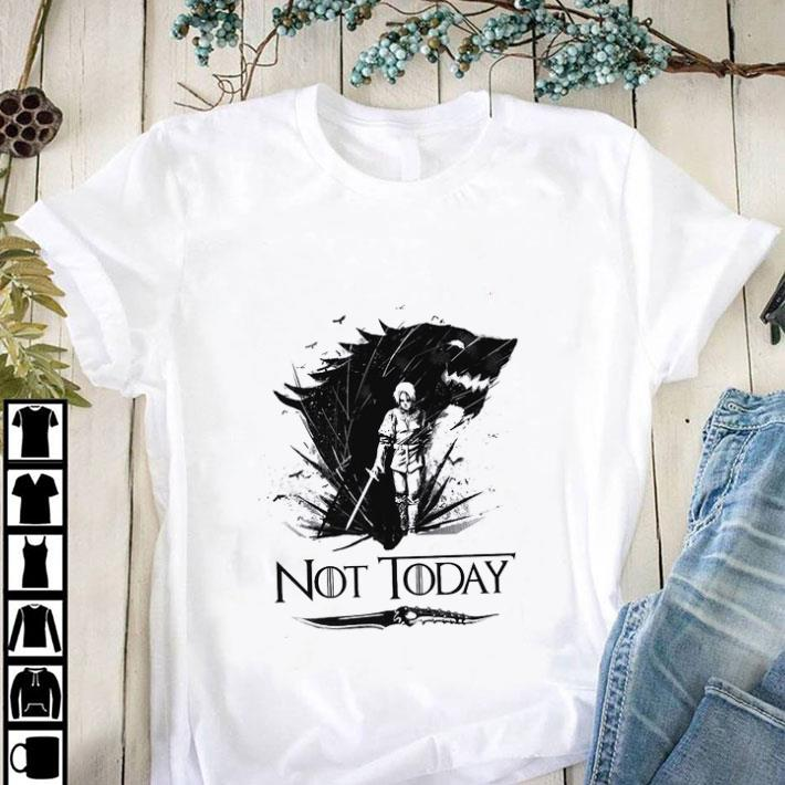 Official Arya Stark Catspaw Blade GOT Not today Game Of Thrones shirt