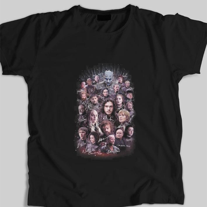 Original Game Of Thrones signatures characters shirt