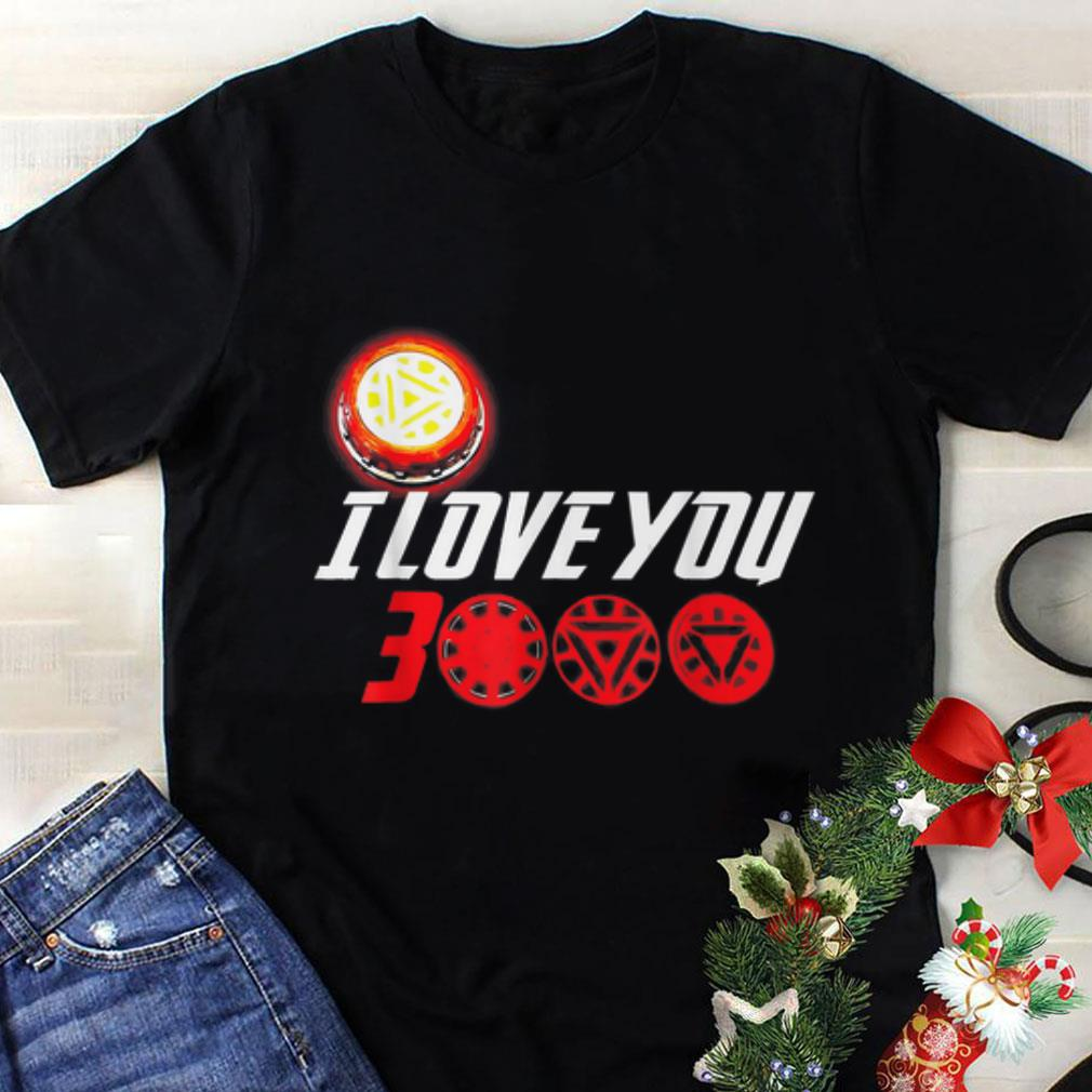 43d473c5 Original I Love You 3000 Arc Reactor Iron man Marvel end game shirt ...