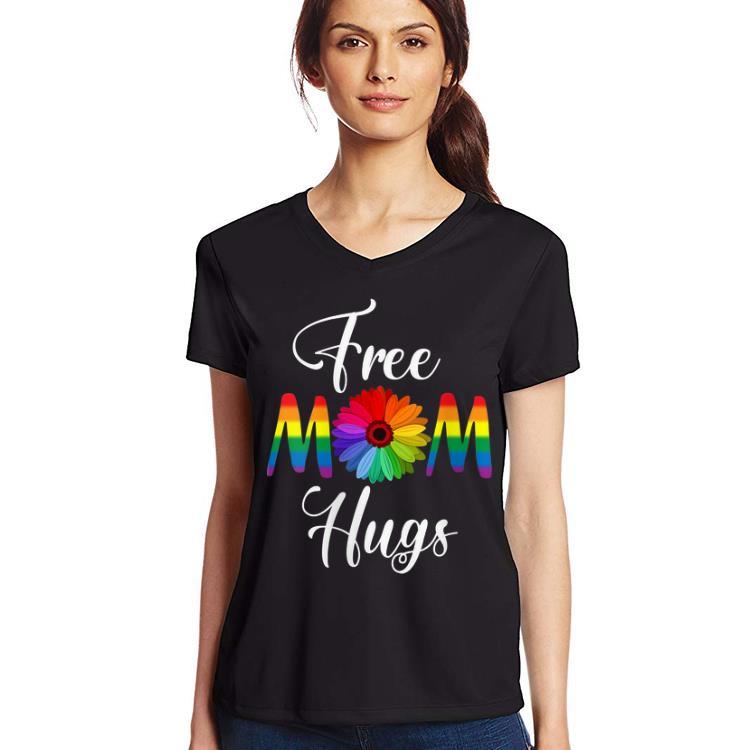 Free Mom Hugs Pride Rainbow Flower shirt