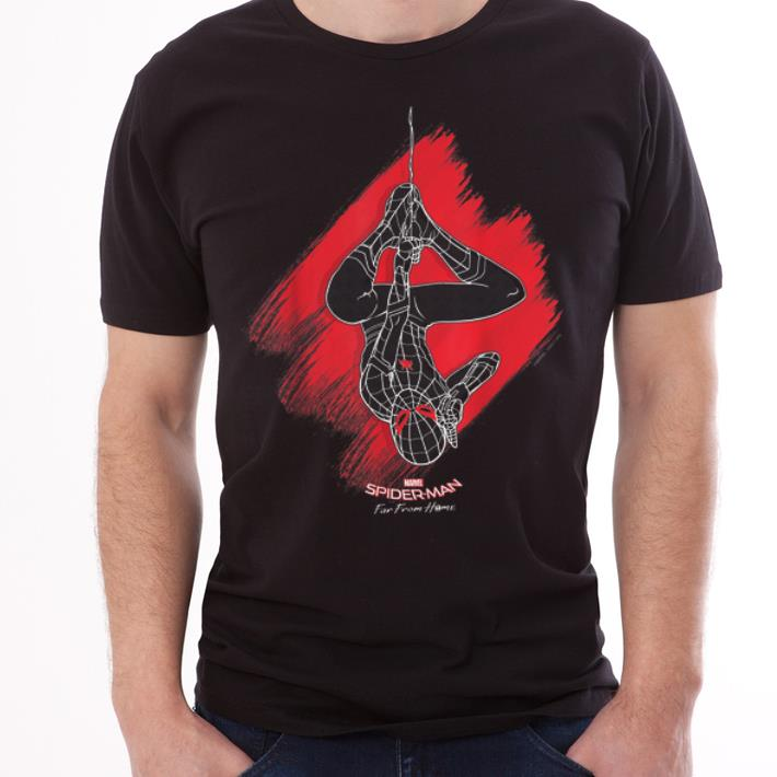 Marvel Spider-man Far From Home Upside Down Web Graphic shirt