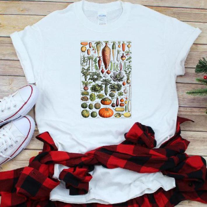 Nice Kitchen Vegetable Identification Reference Chart Botanical Shirt