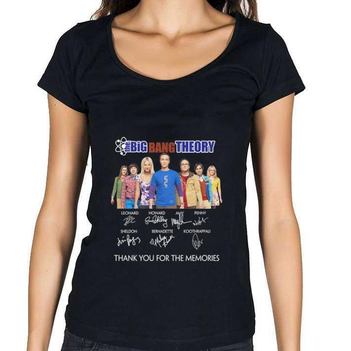 Nice The Big Bang Theory signatures thank you for the memories shirt