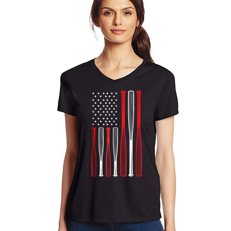Original 4th July Baseball Distressed Usa Flag Patriotic shirt