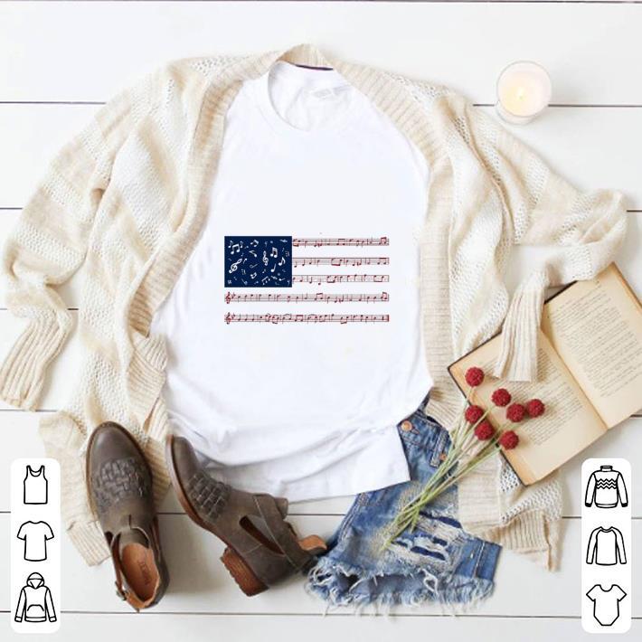 Original Music note American flag shirt