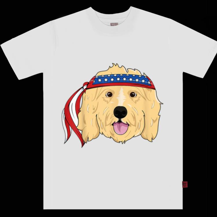 Pretty Golden Doodle 4th Of July Dog America shirt