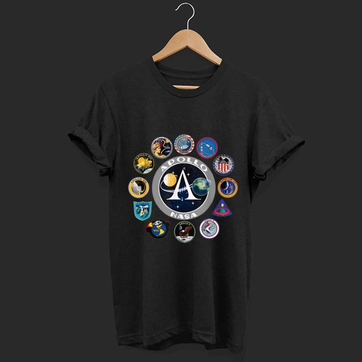 Hot Apollo Missions Patch Badge NASA Program shirt