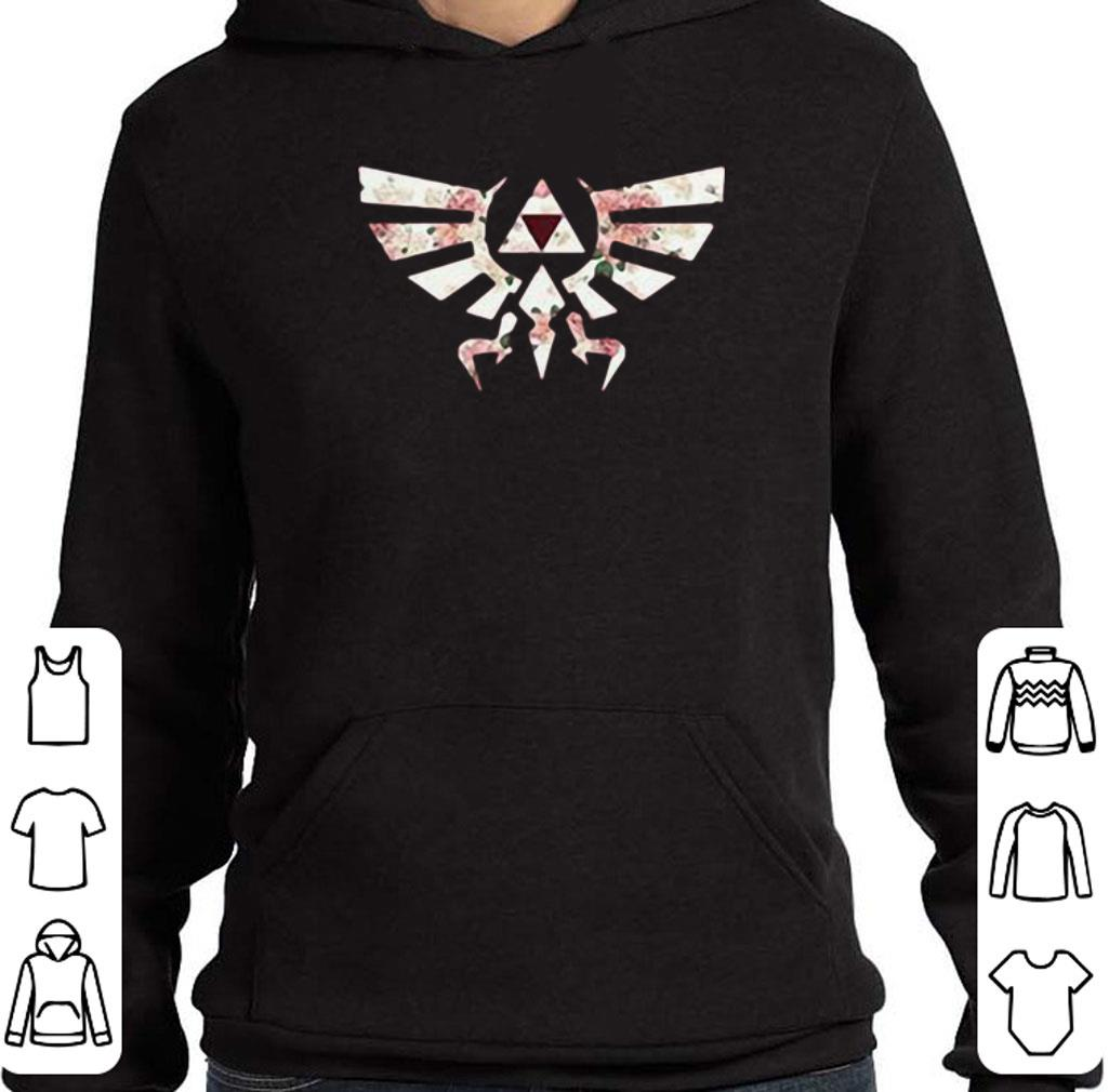 Original Flower The Legend of Zelda Triforce symbol shirt