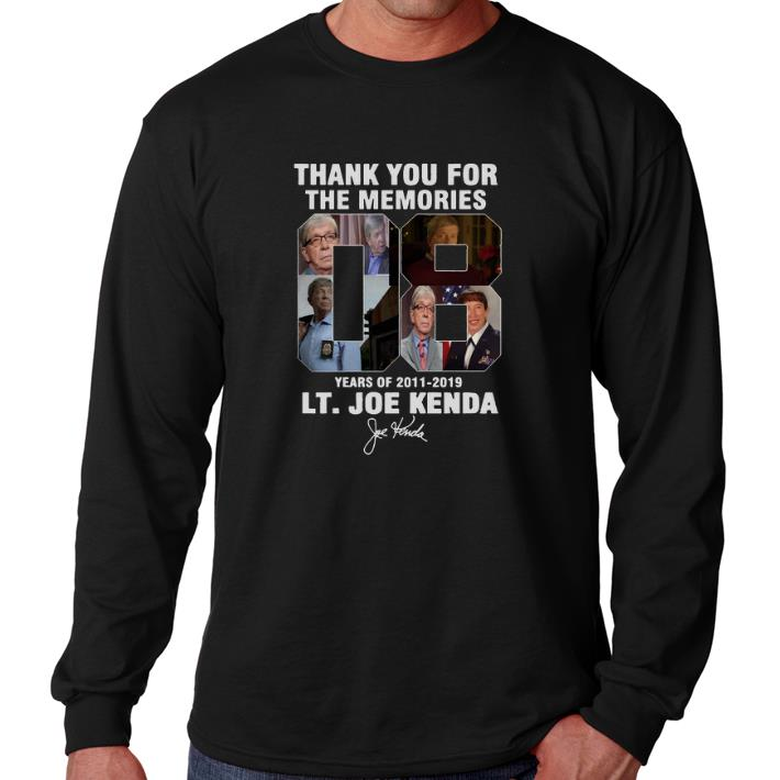 Original Homicide Hunter Lt. Joe Kenda 08 years of 2011-2019 signature shirt