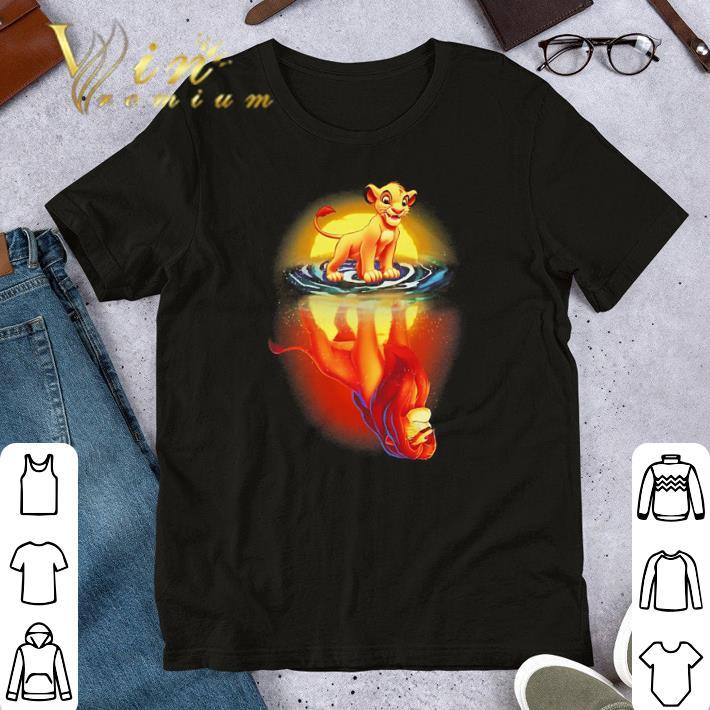 Funny Mufasa In Simba's Reflection Lion King shirt