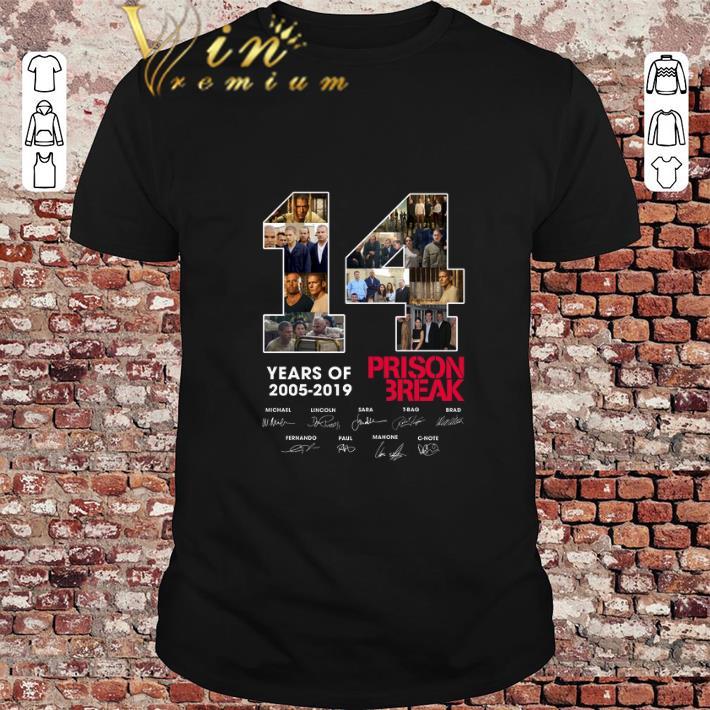 Hot 14 Years Of Prison Break 2005-2019 Signatures shirt