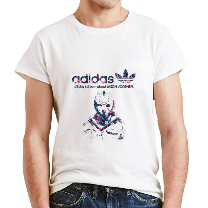 Official adidas all day I dream about Jason Voorhees shirt