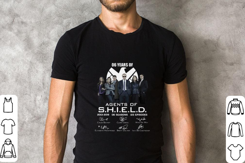 Pretty 06 years of Agents Of SHIELD 2013-2019 06 seasons signatures shirt
