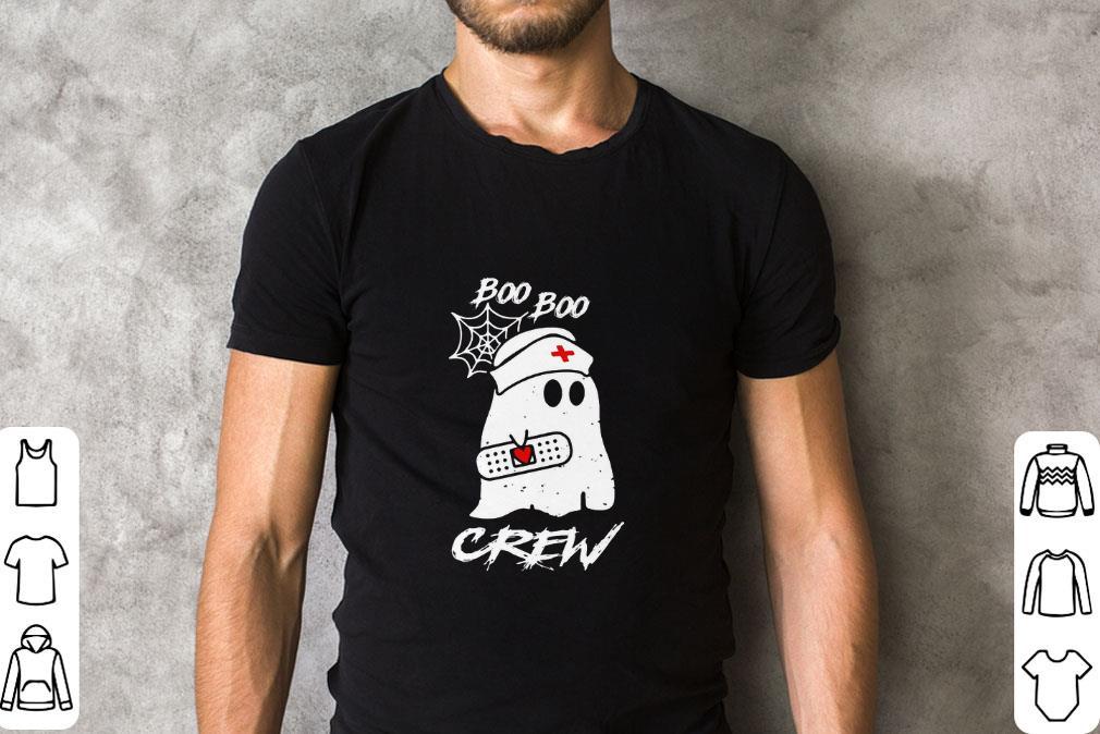 Pretty Ghost nurse boo boo crew shirt