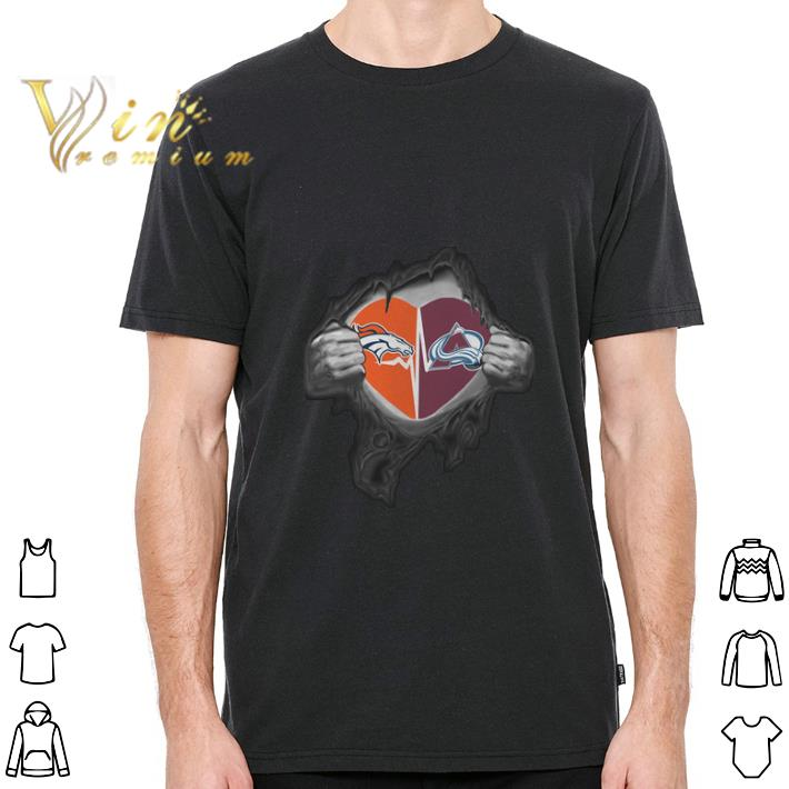 new style 623fb 4985d Pretty Inside my heart Denver Broncos Colorado Avalanche shirt