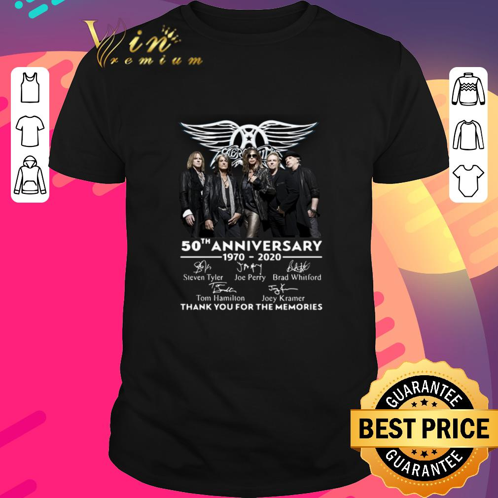 Awesome Aerosmith 50th Anniversary 1970 2020 Thank You For The Memories Shirt 1 1.jpg