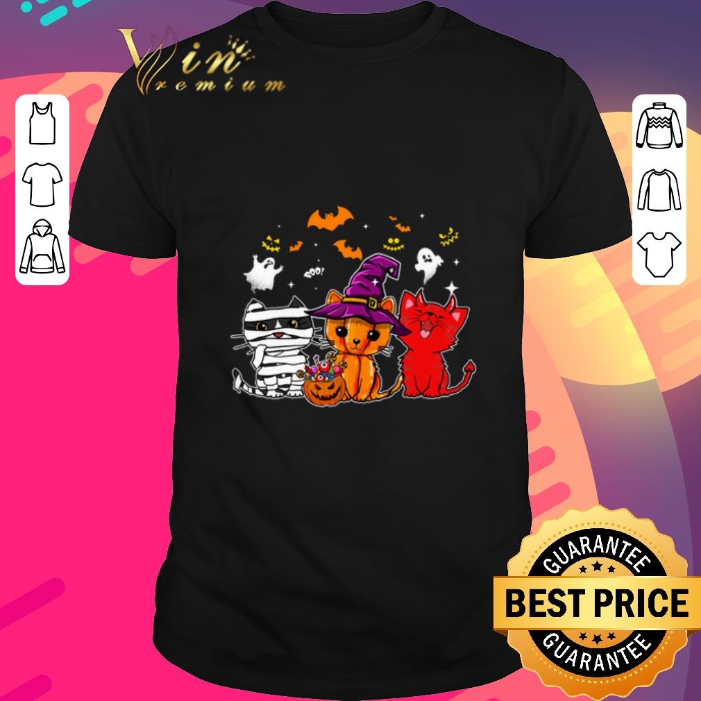 Awesome Boo Cats Pumpkin Ghost Halloween Shirt 1 1.jpg