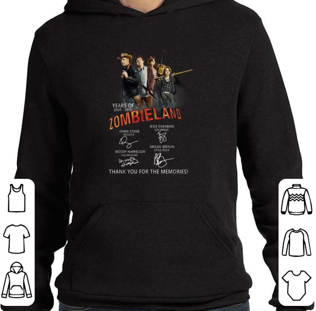 Awesome Years of 2009-2019 Zombieland 2 thank you for the memories shirt