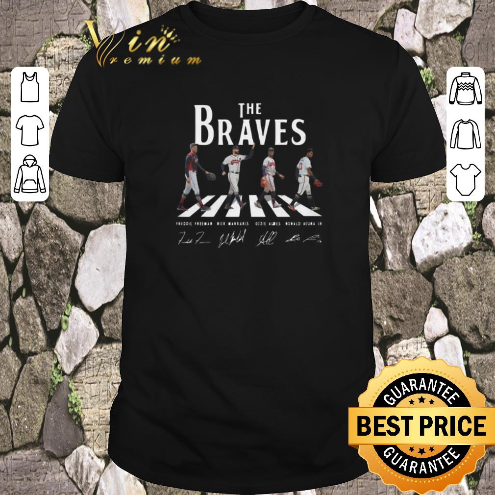 Funny Signatures Atlanta Braves The Braves Abbey Road shirt