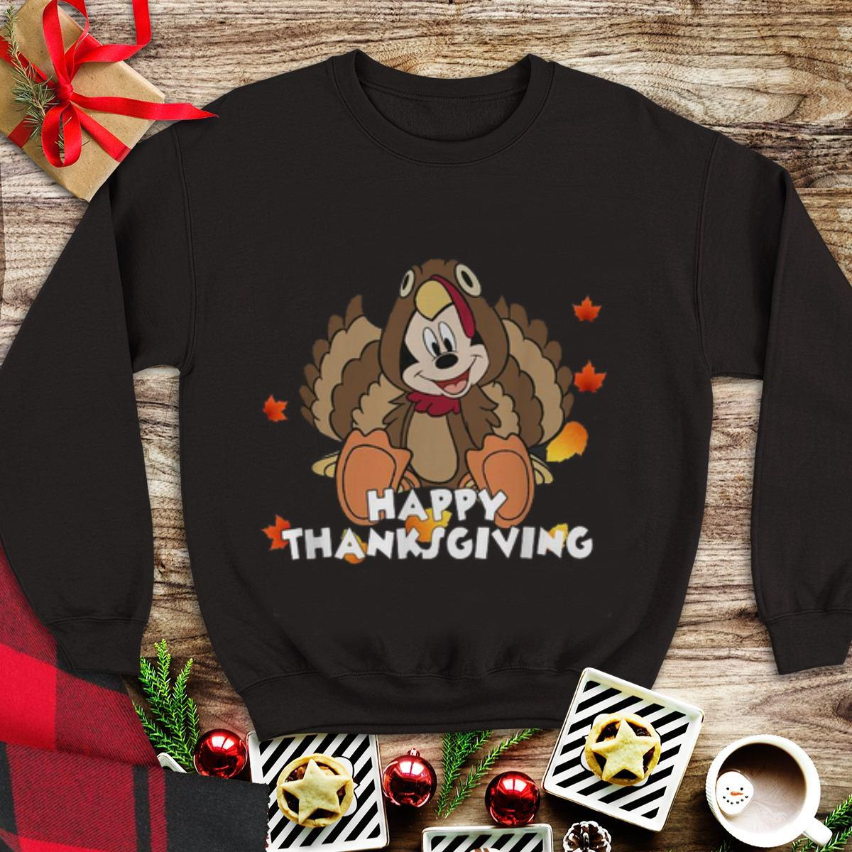 Awesome Happy Thanksgiving Mickey Mouse Turkey shirt