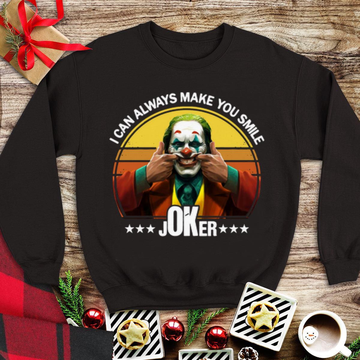 Awesome I Can Always Make You Smile Joker Vintage shirt