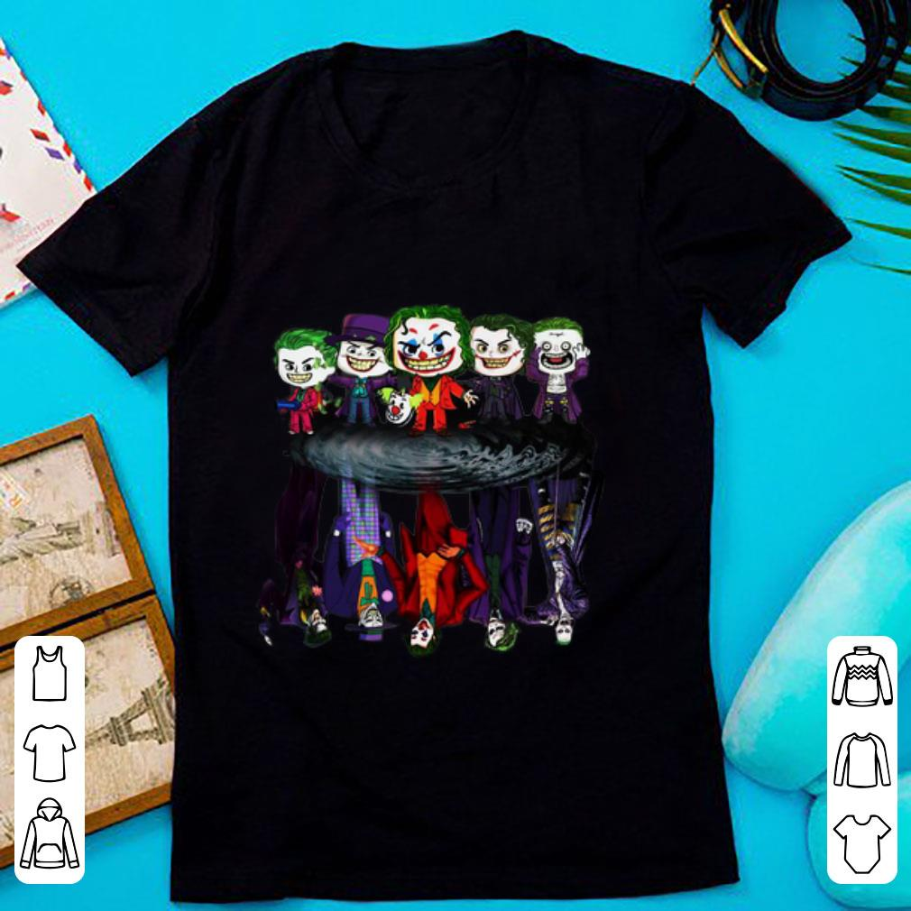 Awesome Joker All Movies Water Reflection Mirror shirt