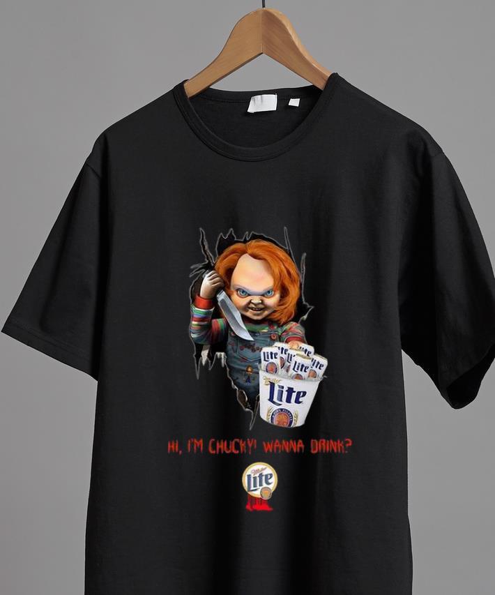 Pretty Hi I M Chucky Wanna Drink Miller Lite Halloween Shirt 2 1.jpg