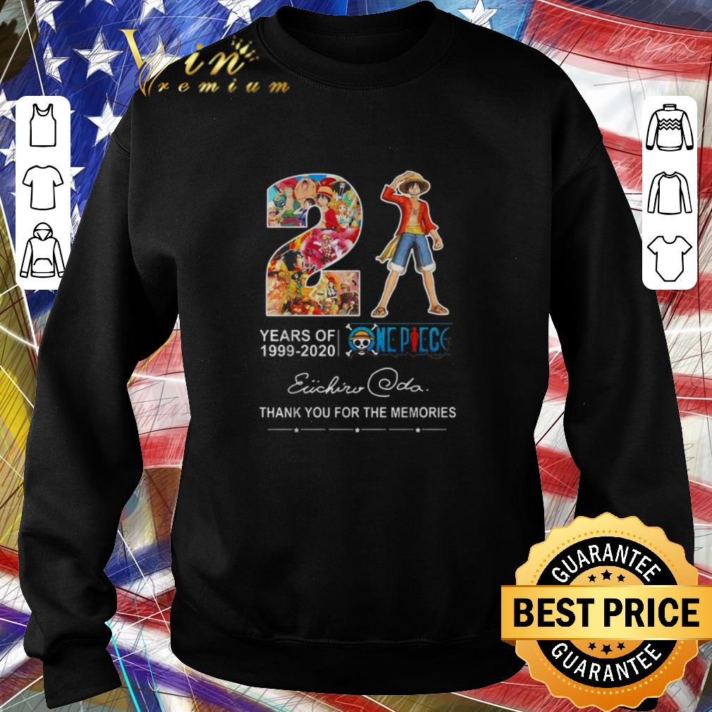 Funny 21 Years Of One Piece 1999-2020 Thank You For The Memories shirt