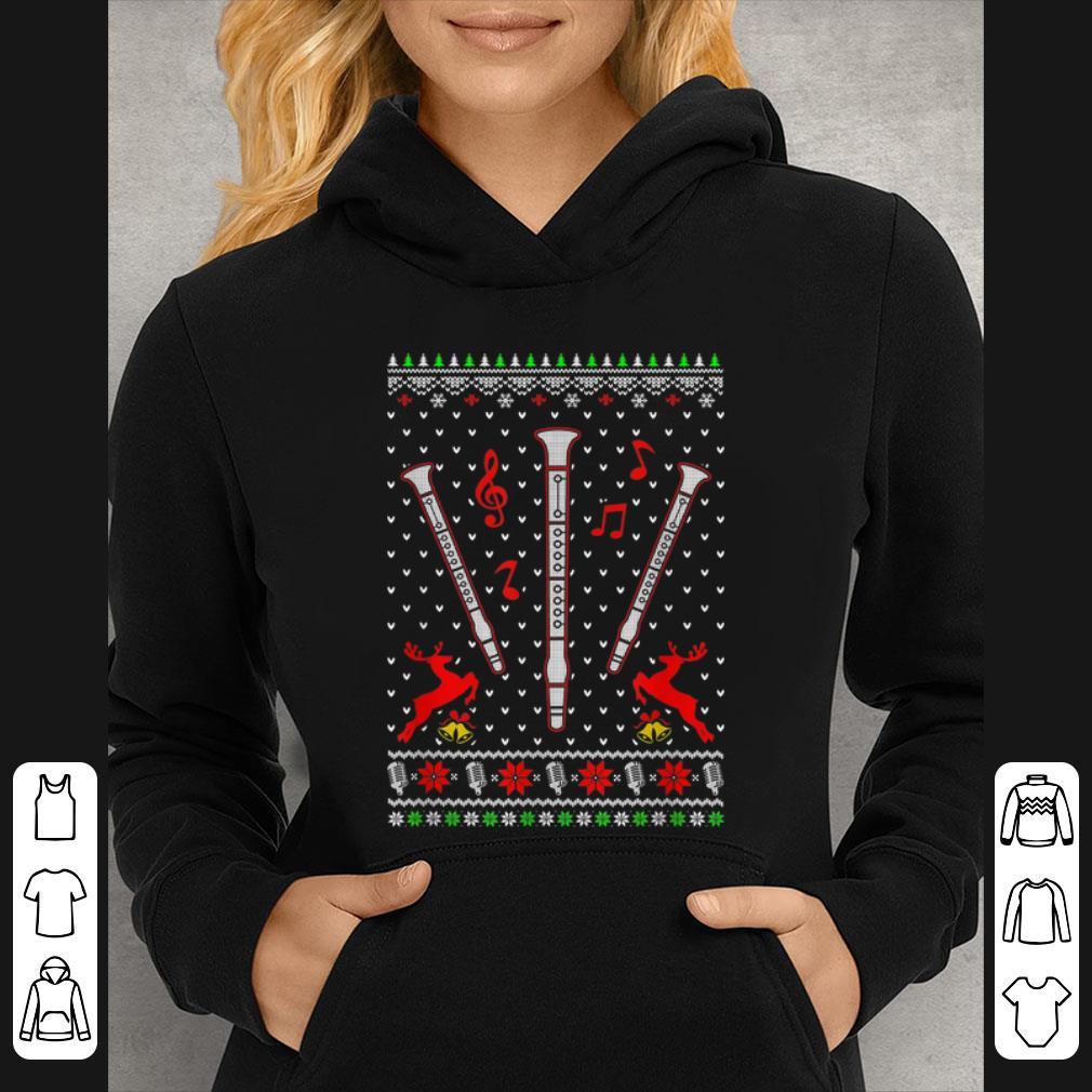 Hot Santa Clarinet Ugly Christmas Sweater Gifts shirt