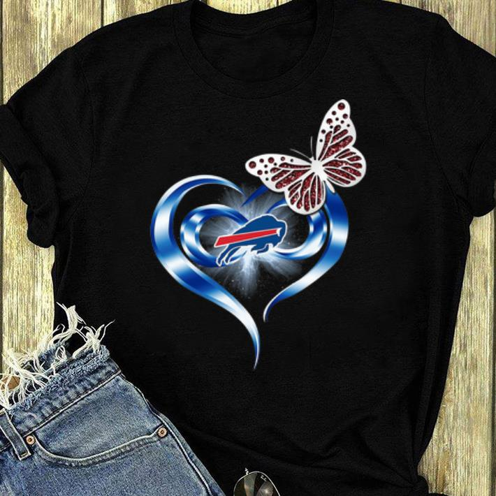 Awesome Butterfly Heart Love Buffalo Bills shirt